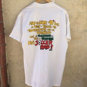 Vintage 90s SOCCER DAD - Double-sided T-Shirt